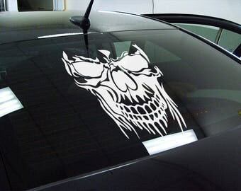 Skull - Die Cut Vinyl Sticker, JDM DRIFT, Car Sticker, Decal, Motorsports cars decals, Tuning fans