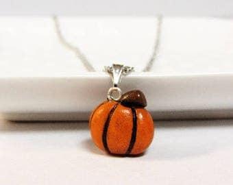 Miniature Pumpkin Necklace - Plant Lover - Charms - Creepy Cute - Fall Pumpkin Spice - Jack O' Lantern  - Pumpkin Patch Outfit -  Fall Photo