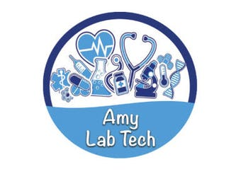 Personalized Lab Tech Button - Medical Button - Med School Button - Medical ID Badge - Doctor ID Badge - Nursing Button - Medical School Pin