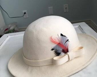 Vintage Doeskin Wool Hat: GEO W Bolman & Co.