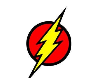 Flash Decal Inspired Flash logo Superhero Decal