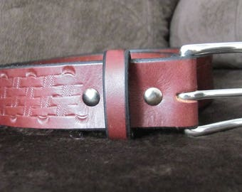 Mens Leather Belt - Size 37""