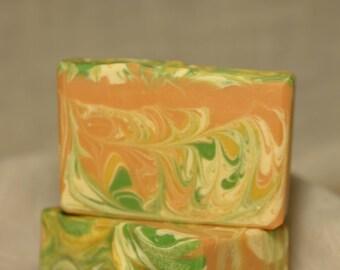 Buttermilk & Carrot soap / Artisan Soap / Handmade Soap / Cold Process Soap