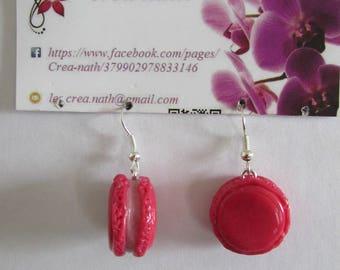 earring type polymer clay macaron