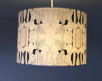 lampshade, handscreeen printed