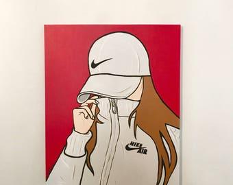 Pop Art Style Acrylic Painting