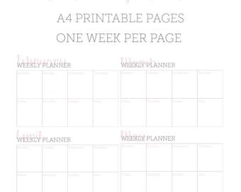 Iona Printable Weekly Planner