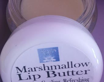 Large- 1 ozs.- All Natural and Organic Marshmallow Lip Butter-Lip Balm