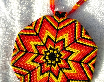 Native American Beaded Medallion