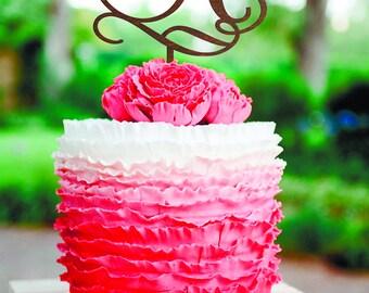 Letter A cake topper Wedding Cake Topper Unique Cake Topper Wood Monogram Cake Topper Initials Cake Topper Single Letter Personalised Topper