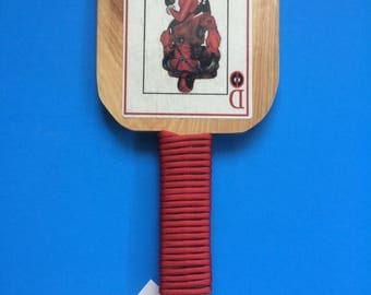 Harley Quinn and Deadpool Spanking Paddle