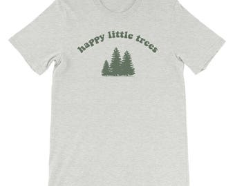 Bob Ross Happy Little Trees  Vintage T-Shirt