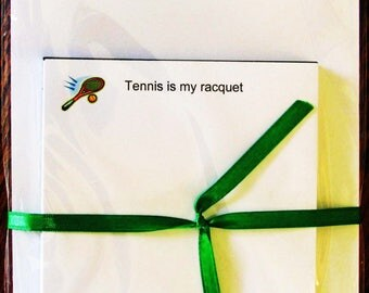 Notepad - Tennis is my racquet