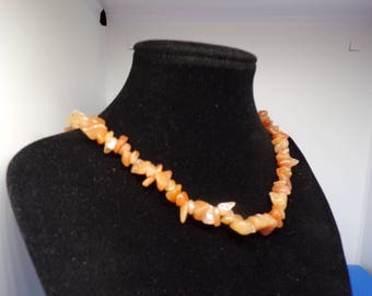 Natural agate irregular beads necklace