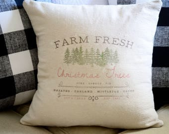 NEUTRAL | GRAIN SACK | Christmas Tree Pillow Cover.Decorator Pillow Cover.Home Decor.Farm House.Christmas Pillow.Cushions.Cushion.Pillow.