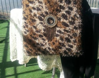 Animal print vintage handmade bag