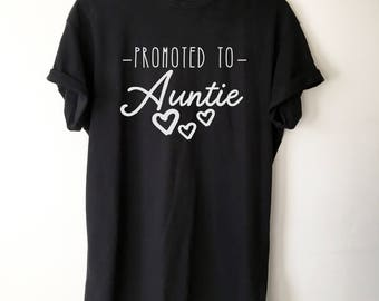 Promoted To Auntie T-Shirt-Auntie shirt - pregnancy announcement shirt - pregnancy reveal to aunt - aunt shirts - aunt gift - new aunt shirt