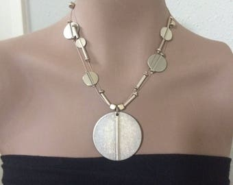 Vintage Chico's silver tone statement necklace.