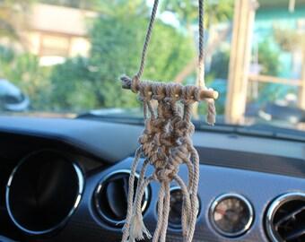 Teeny Tiny Macrame Car Rear View Mirror Hanger