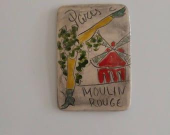 Moulin Rouge fridge magnet