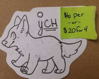 Small Keychain YCH (your character here)