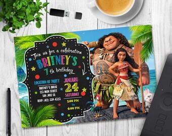 Moana Invitation, Moana birthday invitation, Moana party, Moana birthday, Moana invitations, Moana, invitations