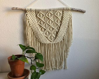 Medium Macrame Wall Hanging, Woven Wall Hanging, Boho Home Woven Tapestry, Hippie Wall Hanging Tapestry