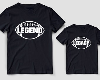 Daddy and me shirts, legend and legacy set, Matching dad and baby, The man the legend, Father and son outfit, Father and baby matching shirt