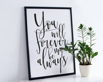 Fiance gift, Couples love quote, Love gift for boyfriend, Love quote for girlfriend, Gift for wife, For husband, Couple wall art, Bedroom