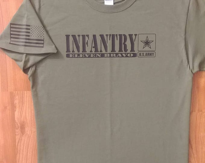 Army - Infantry - 11 Bravo - Large Shirt - Free Shipping