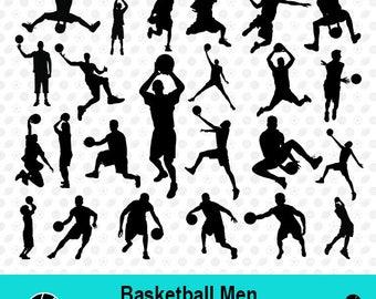 Basketball Men SVG, Basketball Men Silhouette, Basketball Clipart, Sport SVG, Sport Scrapbook, Vector Files, dxf Files, MSD-006