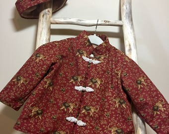 Baby Coat Set, Toddler Coat Set, Baby Girl Coat and Hat, Girl Coat and Hat, Baby Dress Coat, Girls Dress Coat