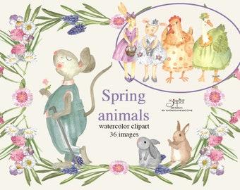 Spring time - clip art