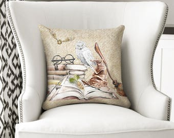 Witchcraft and Wizardry - Throw Pillow
