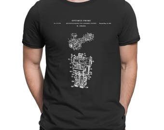 Optimus prime t shirt patent | 80's toy robot T shirt, Retro T shirt P110
