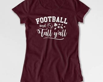 Thanksgiving Football T Shirt Gift Ideas For Women Thanksgiving Outfit Holiday Clothes Football Gifts For Her Turkey Day Ladies Tee TEP-439