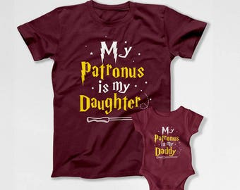 Father Daughter Matching Shirts Wizard T Shirts Daddy Daughter TShirts Dad And Daughter Gifts Family Outfits Dad And Baby Girl TEP-285-286