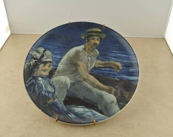 Edouard Manet Boating Germany Decorative Plate