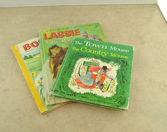 Children's Books - Lassie, Bobi, and The Town Mouse and The Country Mouse