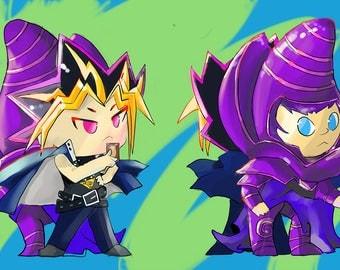 Yu-Gi-Oh, Yami and Dark Magician Acrylic Charm