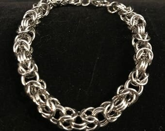 Stainless Steel Byzantine Weave Bracelet