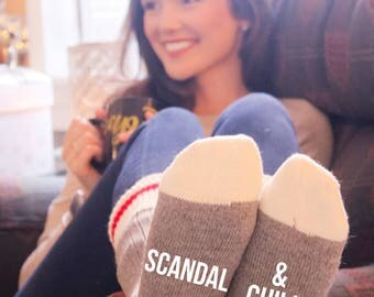 Scandal & Chill Cabin Socks