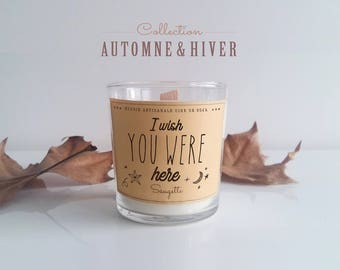 Scented candle wax soy - I Wish You Were Here