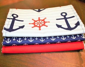Anchors Away Burp Cloth