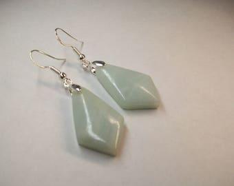 Light green Amazonite earrings