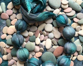 handmade silk necklace
