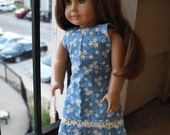"Floral Halter Dress Set for 18"" Doll"