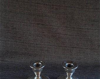 Pair of La Pierre Sterling Silver Candleholders