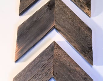 Chevron Arrows - Set of 3  - Rustic Reclaimed Weathered Wood, Farmhouse Style, Rustic Arrows, Shabby Chic Arrows, Primitive, Shabby Chic