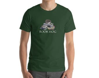 Short-Sleeve Hedgehog Unisex T-Shirt Hedgehog Book Hog by Urchin Wear